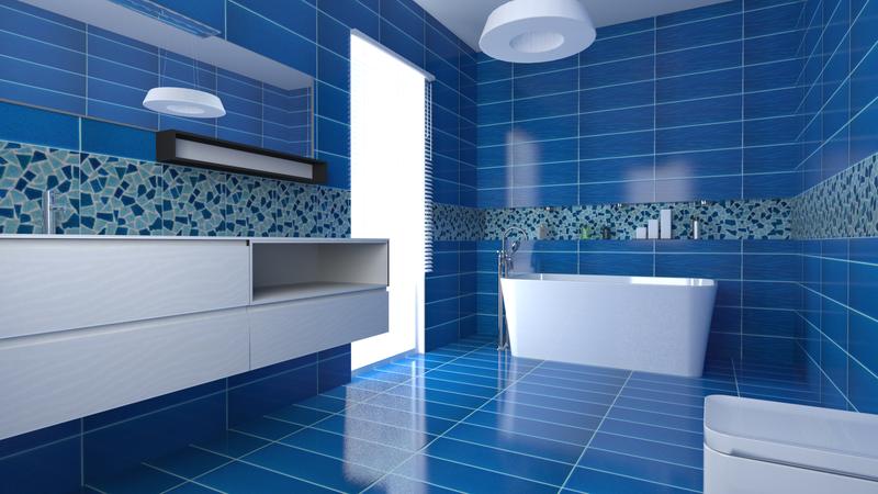 Acquario due rosati parquet - Piastrelle bagno blu ...